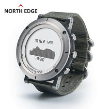 North Edge Men Sport Smart Watch Water Resistant Barometer Thermometer Pedometer Gray Nylon Band