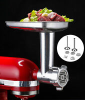 Gvode Food Grinder Attachment for KitchenAid Stand Mixers Including Sausage Tube