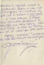 Pierre LOUYS  Lettre autographe signée. 1910