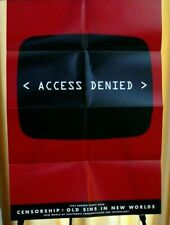 Poster Access Denied Censorship Old Sins New World Electronic Tech Banned Books