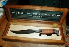 NEW Friends Of The NRA 25-Year Case XX 381-6 Hunting Knife & Wood Display Case