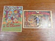 2 ALBUMS A COLORIER FABLES DE FLORIAN + FRIQUE ET FRIQUETE circa. 1935-1950