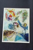 """Marc Chagall """"Tapestry Biblical Message  """" Mounted Offset Color Lithograph  1973"""