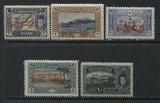 Turkey 1919 overprinted Armistice issue 5 values mint hinged