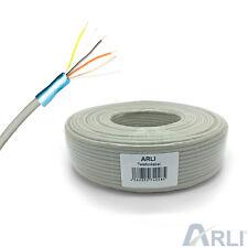 Telefonkabel 2x2x0,6 mm 4 Adern 50m Verlegekabel Telefon Kabel Leitung 2 x 2 0,6
