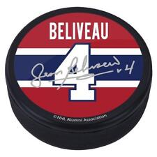 Jean Beliveau #4 Montreal Canadiens Souvenir Player Puck w/Replica Signature