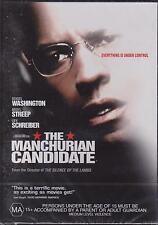 THE MANCHURIAN CANDIDATE - DENZEL WASHINGTON - MERYL STREEP - DVD  -
