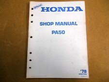 1978 78 PA50 PA 50 Service Shop Repair Manual
