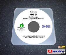 "Tektronix TEK 465 Service + operators Manual With 17""x11"" Diagrams Lo Serials CD"