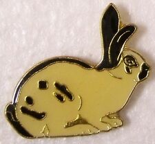 Hat Lapel Pin Scarf Clasp Animal Rabbit White and Black NEW