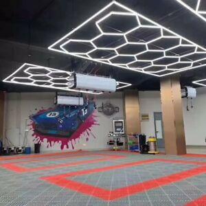 14 Hexagon LED Lighting Car Detail Garage Workshop Retail Lighting UK