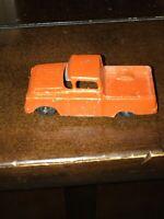 "TOOTSIETOY Vintage 1957 FORD STYLESIDE PICKUP TRUCK 3"" Orange Diecast Metal"