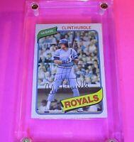 AUTOGRAPH 1980 Topps #525 Clint Hurdle Royals Pirates, SIGNED Baseball card auto