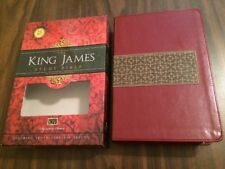 KJV Study Bible - $49.99 Retail - Ruby / Taupe Leathersoft - Nelson