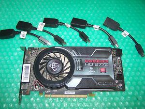 XFX Radeon HD 6770 1GB PCIe x16 Single Slot Eyefinity 5 Monitors Graphics Card
