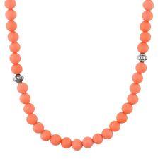 EDC Esprit Damen Halskette Edelstahl Koralle/Silber Hot Glam EENL10349E420