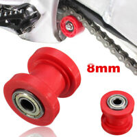 Red 8mm Chain Roller Slider Tensioner Guide Pulley Dirt Pit For Bike& Motorcycle