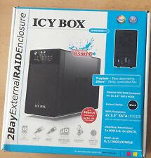ICY Box IB-RD3620SU3 Ext. 2Bay Raid Enclosure USB 3.0/eSata 2x FP