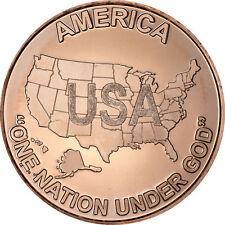 "1 oz Copper Round - USA ""One Nation"""