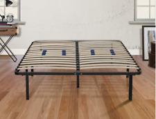 """King Size Bed Frame Marcos de Cama King Platform Wood Support 14"""" Foundation NEW"""