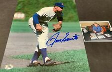 Ron Santo Chicago Cubs Autographed Signed 8x10 Photo Fielding