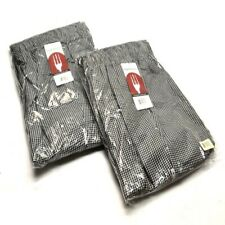 2 New Chef Works Nbcp 000 7xl Checkered Baggy Essential Chef Pants 7xl