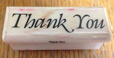 Mostly Animals Thank You Phrase Rubber Stamp 306-S3
