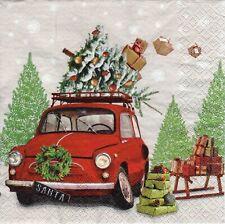 4x PAPER NAPKINS for Decoupage LAST MINUTE CHRISTMAS MINI TREE