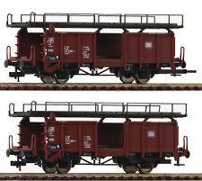Fleischmann 522401 H0 Zwei Doppelstockwagen für Autotransport Bauart Laaes 54