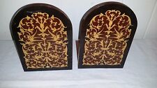 Gorgeous Vintage Italian Bookends Marquetry Wood Inlay Sorrento Italy