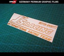 J'S RACING MOTOR SPORT RACING HONDA Drift JDM Mugen Car Decal Vinyl Sticker_Gold