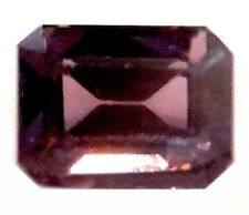 NATURAL EMERALD-CUT PURPLE PINK SPINEL UNHEATED LOOSE GEMSTONES 6.5 x 4.7 mm
