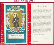876 SANTINO HOLY CARD S. FRANCESCO DA PAOLA ED G MI ED. G MI. 264