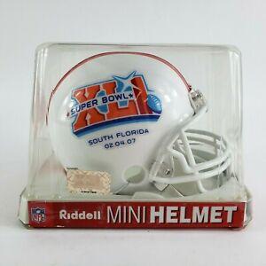 NFL Indianapolis Colts Super Bowl XLI 41 Champions 2007 Riddell Mini Helmet NEW