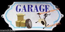 Plaque de porte en métal bombée GARAGE tole relief pour déco maison sous sol