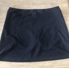 Women's Adidas Climalite Golf Skort Skirt Black Size 14