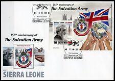 Sierra Leone 2020 - Salvation Army 155 years B - SOUVENIR SHEET William Booth