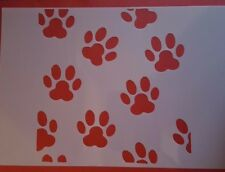 1260 Schablonen Hundepfotten Shabby Stencil Wandtattoos Wandbild Airbrush Blüten