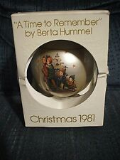 """A Time to Remember"" by Berta Hummel Christmas ornament 1981"