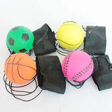 63mm Return Sponge Rubber Bouncy Wrist Ball Elastic Sport On String Activity Toy