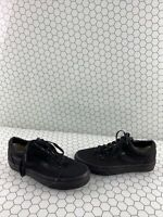 VANS Old Skool All Black Canvas Lace Up Low Top Shoes Men's Size 5.5  Women's 7