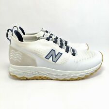 NEW BALANCE hltbpyb Men's Fresh Foam Trailbuster white mid top Sneaker Boot sz 9