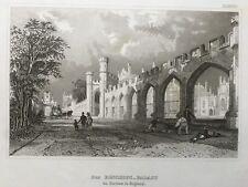 1840 Antique Print; Bishop Auckland Palace, Durham after Eigenthum d.Verleger