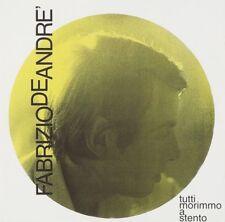 FABRIZIO DE ANDRE' - TUTTI MORIMMO A STENTO - CD SIGILLATO 2002 JEWELCASE