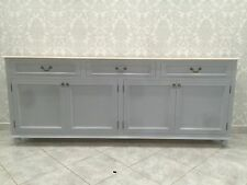 4 door 3 drawer Local make french style wooden buffet side board