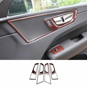 For Volvo XC60 2018-2021 GL Peach Wood Grain Inner Door Handle Cover Trim 4X