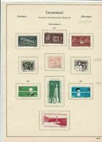 germany 1957 democratic republic stamps page  ref 18758
