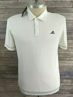 New adidas Mens Polo White Large MSRP $55