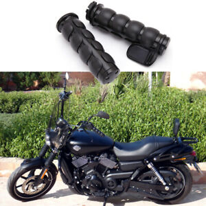 "Black 1"" Motorcycle Handle Bar Hand Grips For Harley Davidson Street XG 750 500"