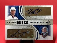 10-11 SP GAME USED EXTRA BIG SIGNIFICANCE RICK NASH STEVE MASON Dual Auto XSG-NM